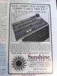 Sunshine Computer Company Advertisement
